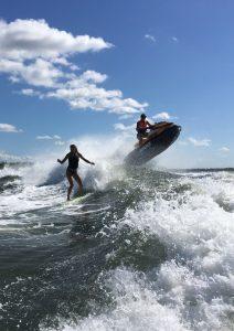 Maritimo S70 Wake Surfing