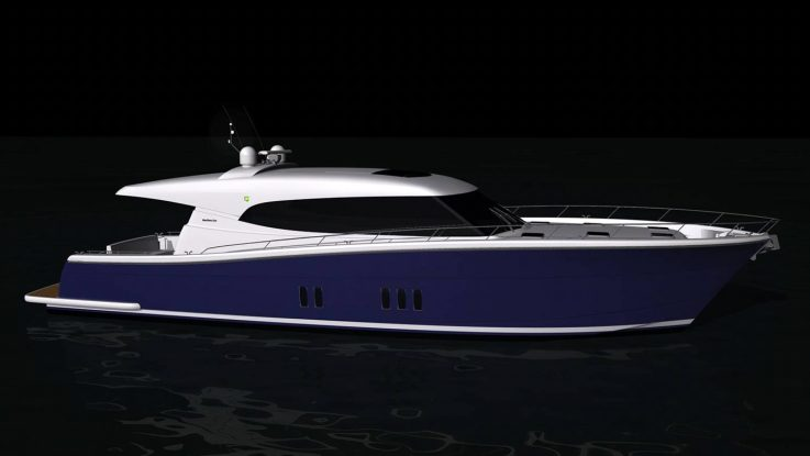 The first Maritimo S70 currently in production